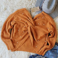 Venice Pearl Sweater in Pumpkin Spice
