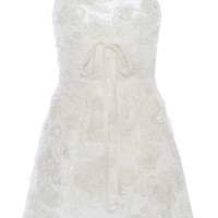 Embroidered Cady Mini Dress | Moda Operandi