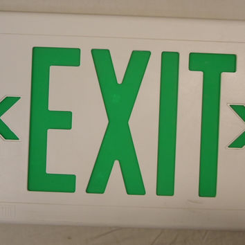 Dual Lite 0020616T Exit Sign Cover 13in x 9in Plastic  -- Used