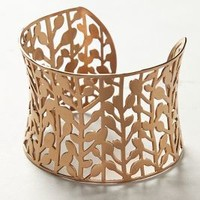 Gilded Filigree Cuff by Anthropologie Pink One Size Jewelry