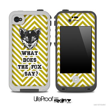 What Does the Fox Say White And Gold Skin for the iPhone 5 or 4/4s LifeProof Case