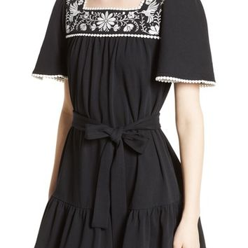 kate spade embroidered a-line dress | Nordstrom