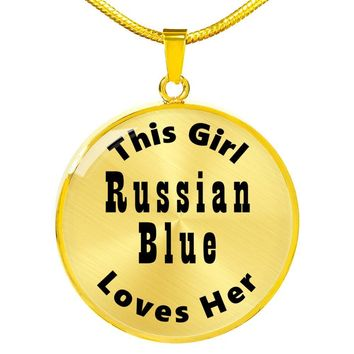 Russian Blue - 18k Gold Finished Luxury Necklace