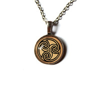 Celtic pendant Nordic art symbol jewelry Antique style Unisex