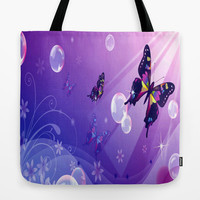 Butterfly Dreams Tote Bag by Robin Curtiss | Society6