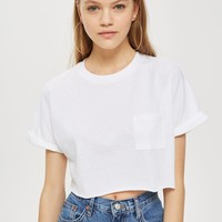 Cut Off Crop T-Shirt - T-Shirts - Clothing