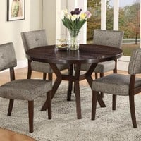 5 Pc. Kayla Round Dining Room Set