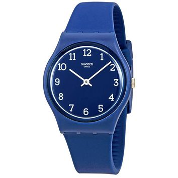 Swatch Blueway Blue Dial Ladies Silicone Watch GN252