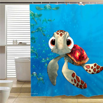 Squirt FindingNemo3D3 shower curtain