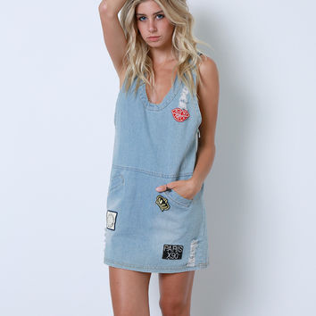 All That Fun Denim Dress - Blue