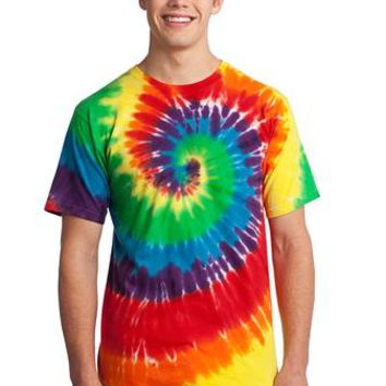 Rainbow Tie Dye Swirl Adult T-Shirt