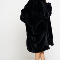 Dakota Fur Coat - Black