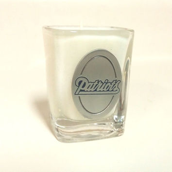 New England Patriots Candle - Soy Shot Glass Candle - CHOICE OF SCENT