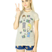 BEAVIS AND BUTTHEAD LAUGHTER TEE