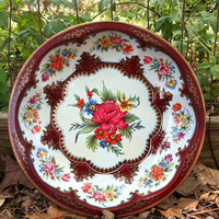 Daher Decorated Ware Round Tin Bowl by gingerakesler2 on Etsy
