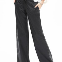 Banana Republic Womens Monogram Faux Leather Wide Leg Pant