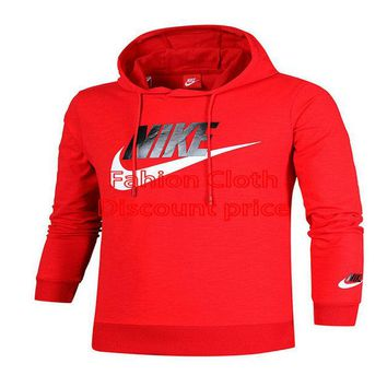 Nike Sweater Womens Slub cotton M-2XL Red