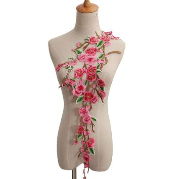 Blossom  Flower  Collar  Patch  Applique  Badge  Embroid