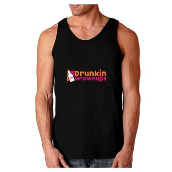 Drunken Grown ups Funny Drinking Dark Loose Tank Top  by TooLoud