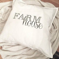 Farmhouse Throw Pillow Cover
