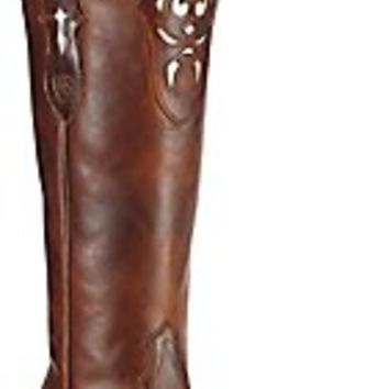 Ariat Hacienda Women's Vintage Caramel Tall Top Snip Toe Western Boots