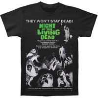 Night Of The Living Dead Men's  Movie Poster T-shirt Black