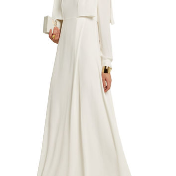 Layered silk-georgette gown | Valentino | UK | THE OUTNET