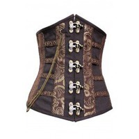 CD-661 - Coffee and Gold Long Line Underbust