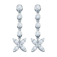 Diamond Fashion Earrings in 10k White Gold 0.77 ctw