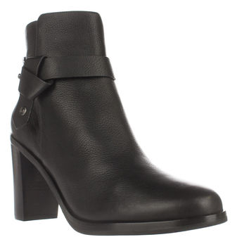 Via Spiga Farrah Harness Ankle Boots, Black, 10 US / 40 EU