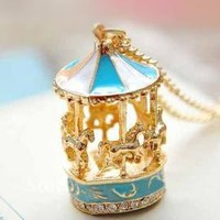 Round & Round Carousel Pendant Necklace   Sincerely Sweet Boutique
