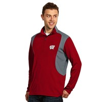 Antigua Wisconsin Badgers Delta 1/4-Zip Pullover