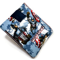 "Hand Crafted Tablet Case from Captain AmericaFabric/ Tablet Case For  Kindle Fire HD 7"" ,i Pad Mini,Nook HD 7, Samsung Galaxy 7"