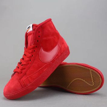 Nike Blazer Mid Suede Vntg Women Men Fashion Casual Old Skool High-Top Shoes-4