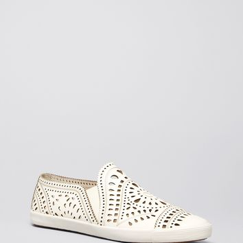 AERIN Flat Slip On Sneakers - Liza Perforated