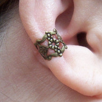 Filigree Ear Cuffs Antiqued Brass Ear Cuff Bronze Ear Cuffs