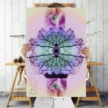 Indie Art Print - Rorschach Art - Surreal Tree Wall Art, Digital Download | Printable Bohemian Decor by Mila Tovar