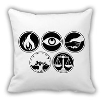 All Symbol Divergent Throw Pillow Cover