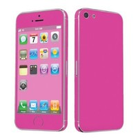 SkinGuardz Vinyl Decal Protective Sticker Skin for Apple iPhone 5 - (Hot Pink)