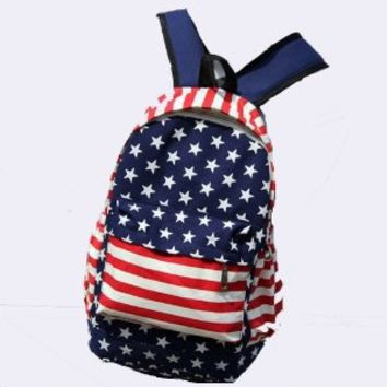 Tobey Black Canvas Backpack School Bag Super Cute Stripe Star for School Laptop Bag Waterproof Red