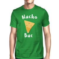 Nocho Bae Men's Green T-shirt Round Neck Funny Quote For Couples