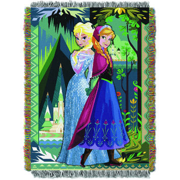 Disney Frozen Two Worlds One Heart 051 Entertainment 48x60 Tapestry Throw