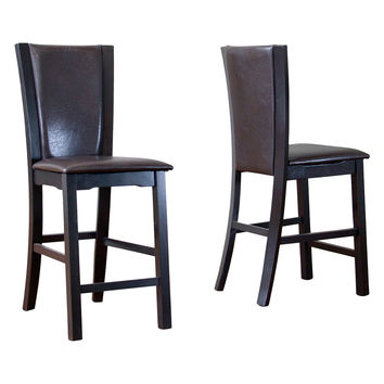 Design Studios Baxton Studio Wing Counter Stool - Brown