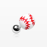 Adorable Baseball Half Dome Cartilage Tragus Earring