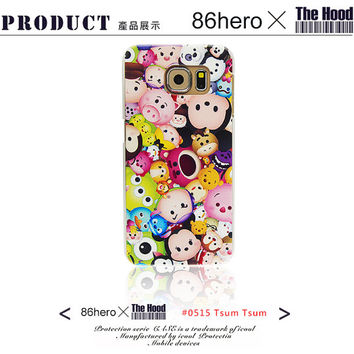 Disney TsumTsum  Licensed Original   For Galaxy S6 / S6 Edge ,Phone Case,Pattern phone case,crystal hard case
