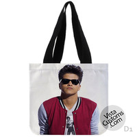 Bruno Mars cute New Hot, handmade bag, canvas bag, tote bag