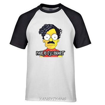 PABLO ESCOBAR Print Cotton T-shirt