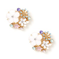 Bouquet of Flowers Stud Earrings | Icing