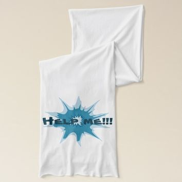 Blue bullet hole. Add your text. Scarf