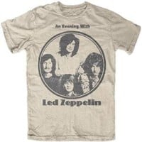 "New Led Zeppelin ""An Evening With Led Zeppelin Photo"" Classic Rock Adult T-Shirt"